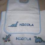 asciugamano e bavaglino Nico