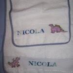 asciugamano e bavaglino Nico 2